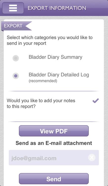 BladderTrakHer screenshot-3