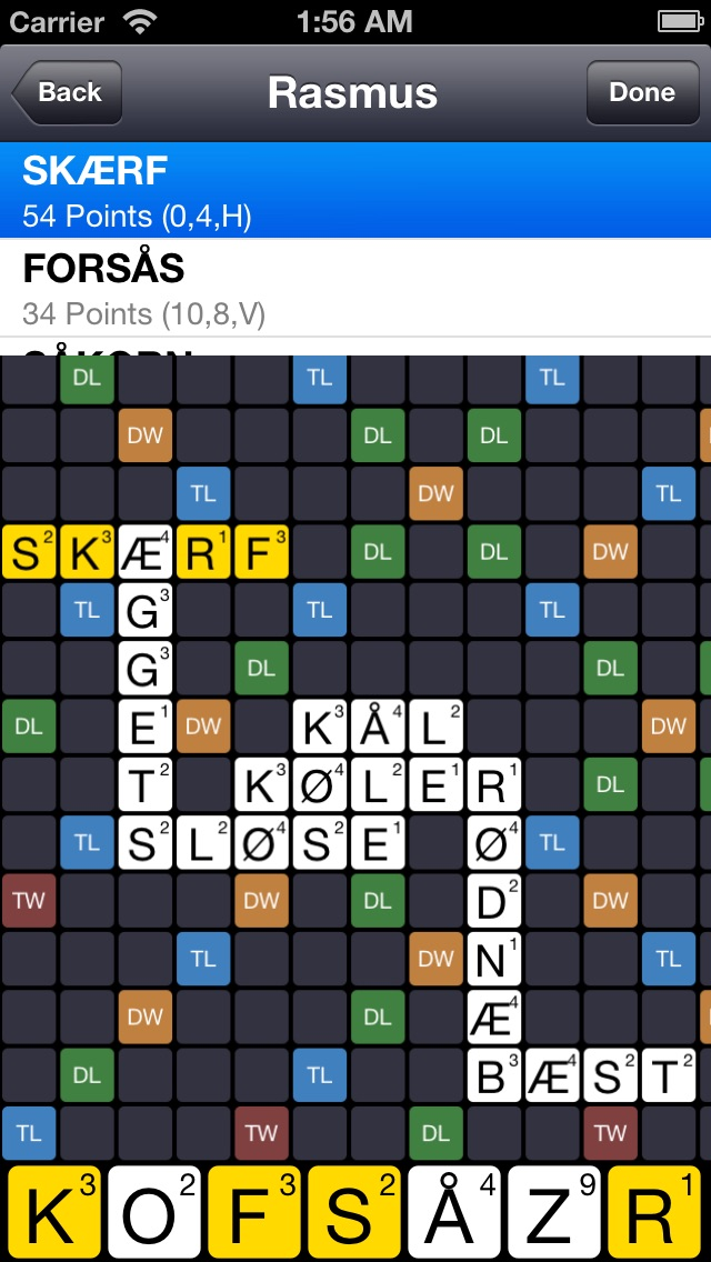 Screenshot for DK Løser for Wordfeud in Denmark App Store