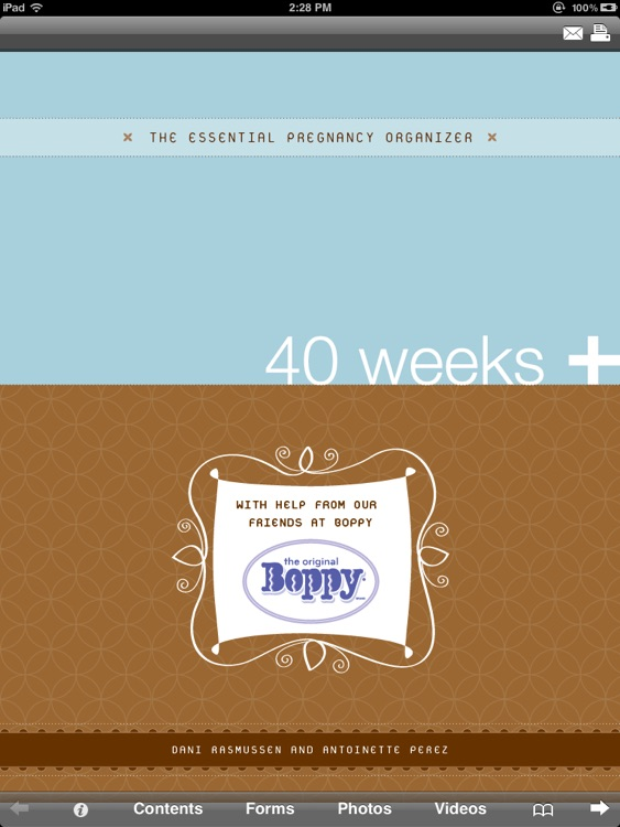 Pregnancy Organizer: 40 Weeks +