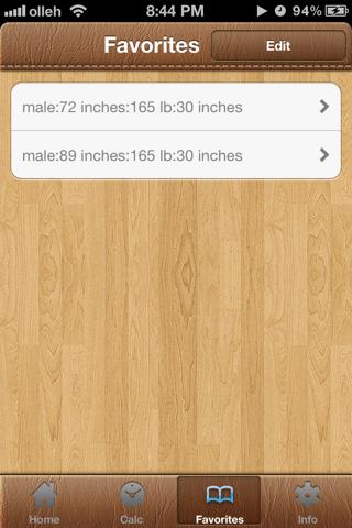 BodyFat Calorie Calculator FREE screenshot three