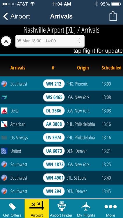 Nashville Airport + Flight Tracker Premium