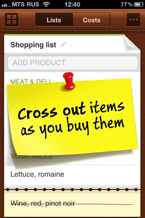 Grocery Mate - Easy to Use Shopping List