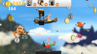 Airplane Cats vs Rats FREE - Tiny Flying Angry Air Battle Game screenshot two