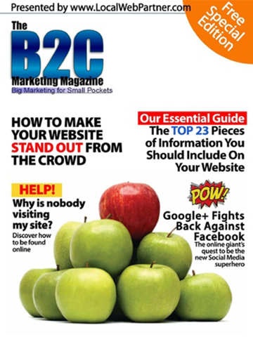 Screenshot of B2C Marketing Magazine - Big Marketing for Small Pockets