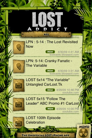 LOST ADDICT - The Unofficial LOST iPhone Fan APP screenshot-0