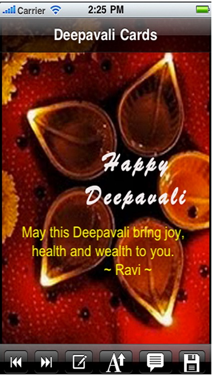 Happy Deepavali Greetings Card. Send Deepavali Wishes Greeting Cards on Festival of Lights. Custom Deepavali Cards! screenshot-3