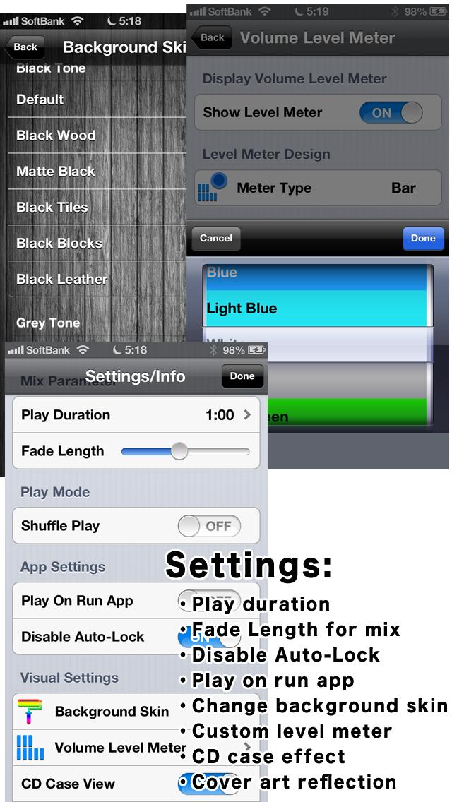 Quick Mix -  simple music player like DJのおすすめ画像4