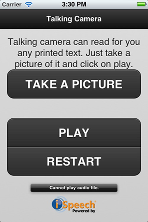 Talking Camera Pro - for visually impaired/blind