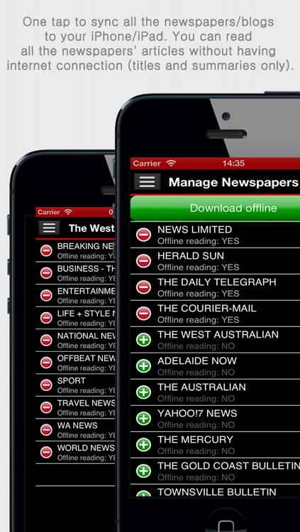 Australian Newspapers+ (Aussie News+ by sunflowerapps) screenshot-3