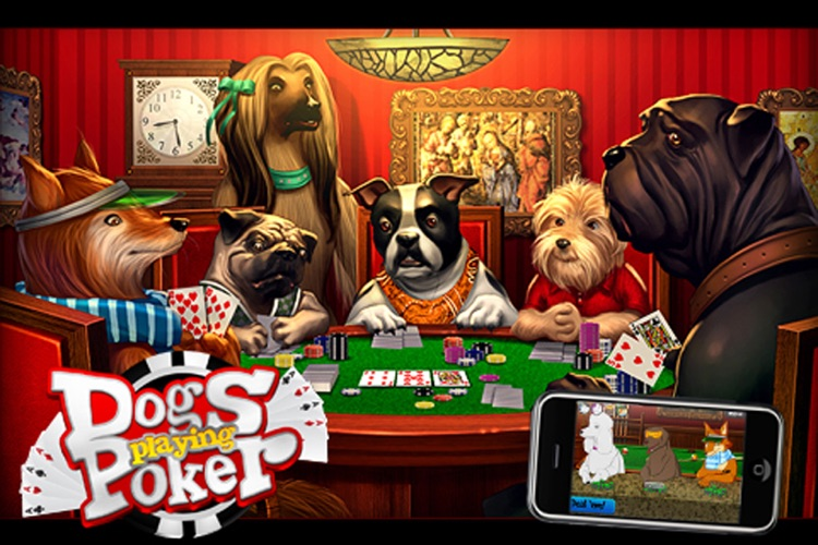Dogs Playing Poker ~ free Texas hold'em game for all skill levels & dog lovers! screenshot-0