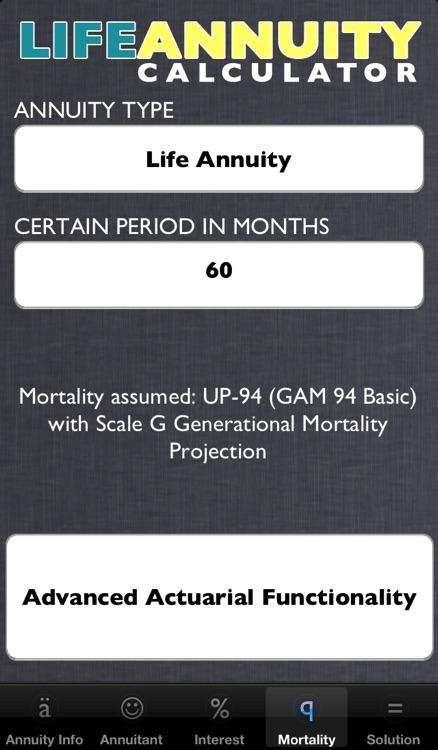 Life Annuity Calculator screenshot-3
