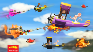 Airplane Cats vs Rats FREE - Tiny Flying Angry Air Battle Game screenshot one