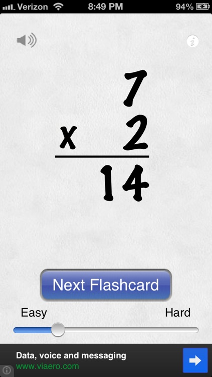 Awesome Flashcard Multiplication FREE screenshot-0