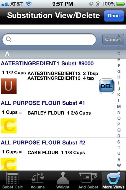Culinary Calculator Pro for smartphone screenshot-3