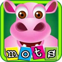 First French words with phonics: educational game for children
