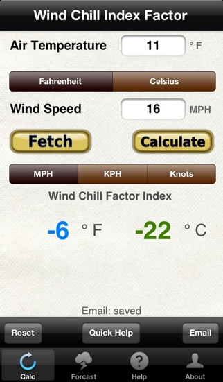 Wind Chill Wind Speed review screenshots
