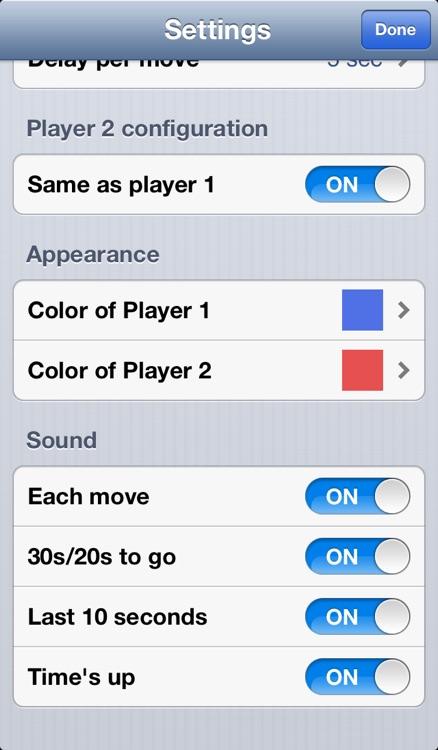 ChessClock touch screenshot-3