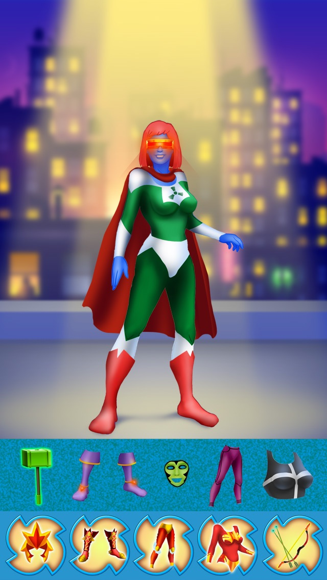 Superheroes Girl ! - Girls Power Fashion and Style the Dream Costumes Game Screenshot on iOS