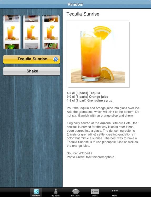Wiki Cocktail Machine HD: Free Drink Recipe Picker