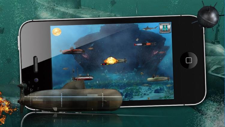 Angry Battle Submarines - A War Submarine Game! screenshot-4
