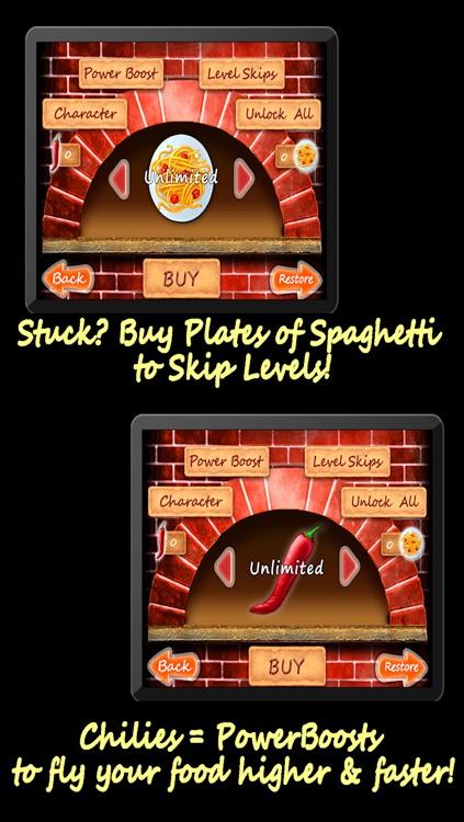 Spaghetti Mountain Race 2 - Crazy Fun Flying Food Race Game screenshot-4