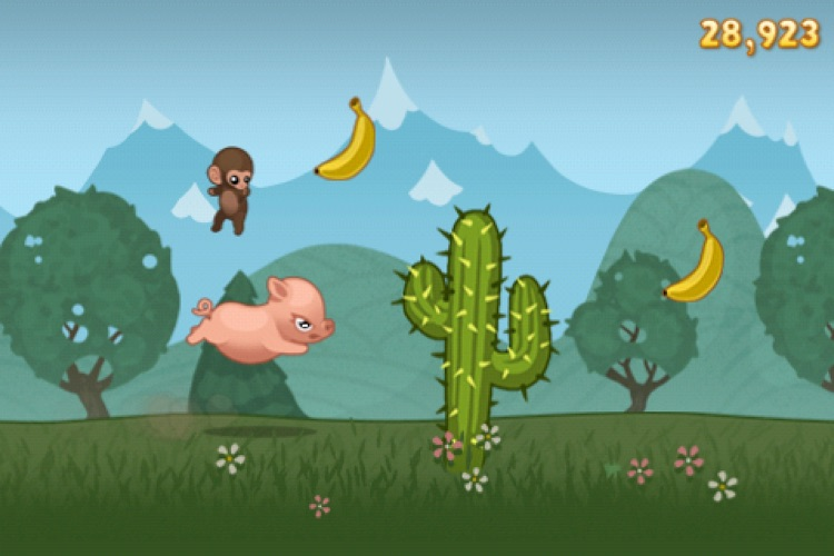 Baby Monkey (going backwards on a pig) screenshot-3