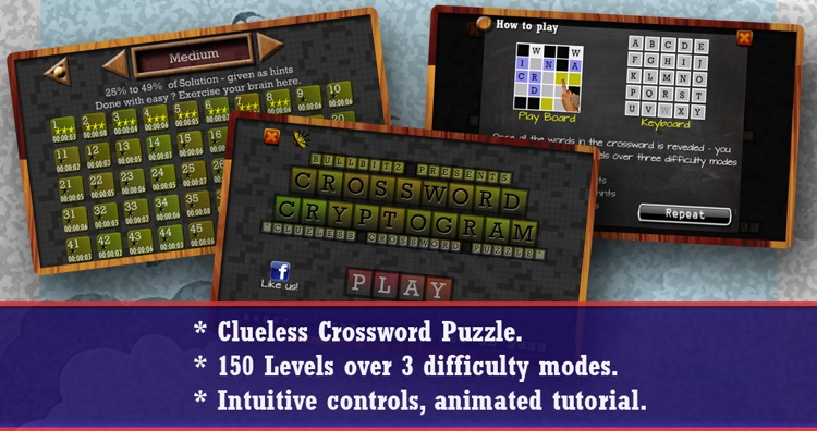 CROSSWORD CRYPTOGRAM - Clueless Crossword Puzzle screenshot-4
