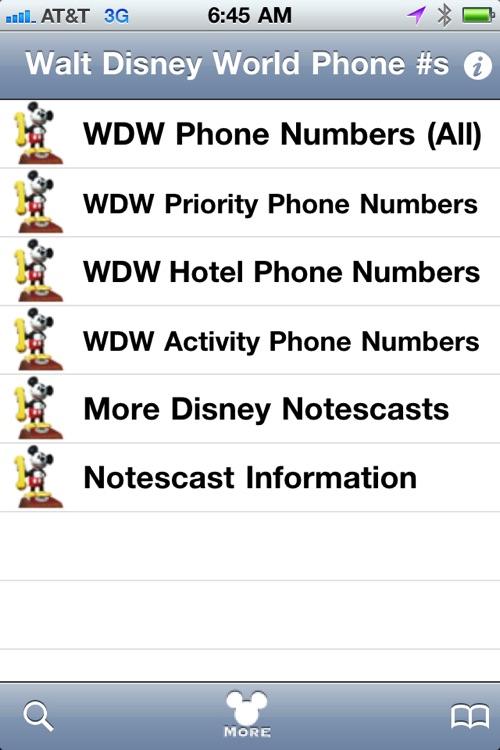 Walt Disney World Phone Numbers screenshot-4