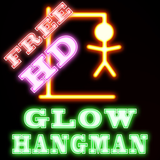Glow Hangman - HD : FREE icon