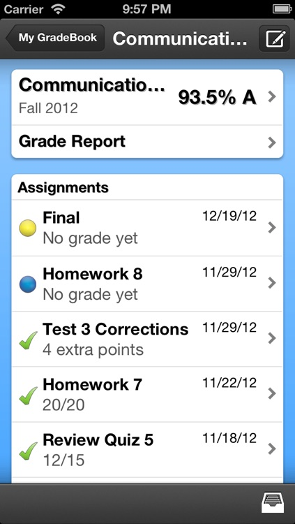 My Grades & Homework screenshot-1