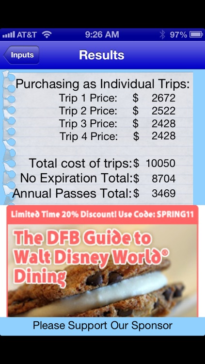WDW Ticket Calculator - Walt Disney World Ticket Prices screenshot-4