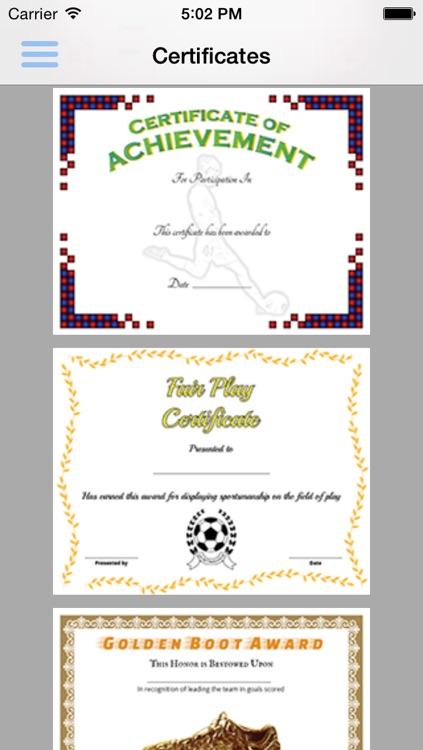 Soccer Pack 01 Certificate Creator screenshot-4