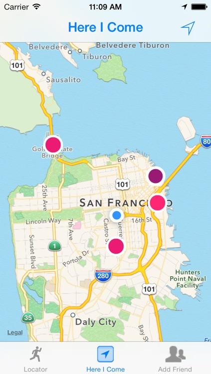 Here I Come - Friend Locator, GPS Phone Tracker screenshot-3