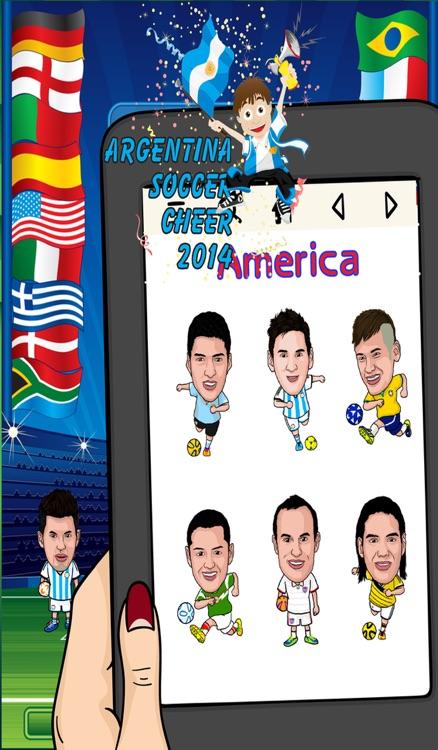 Argentina World Soccer Cheer 2014 - Latinoamérica Foto Fútbol Argentino Sticker Booth Frames in Braziil screenshot-3
