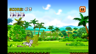Baby White Tiger Run : Dash Race with Mittens the Super Sonic Cub Screenshot on iOS