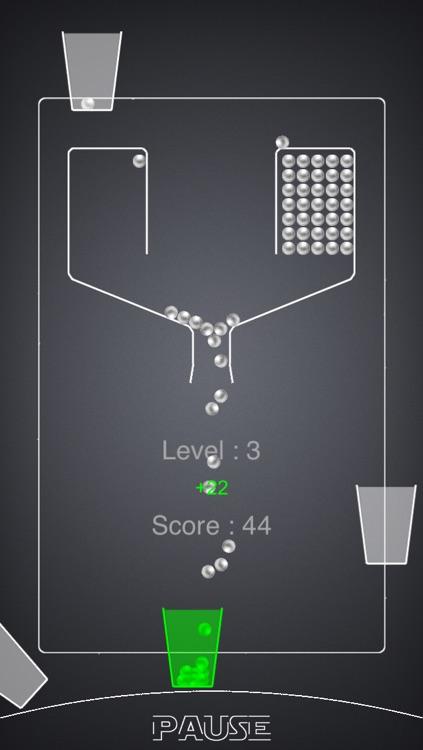 100 Falling Balls - Fill The Cups: mini arcade game edition