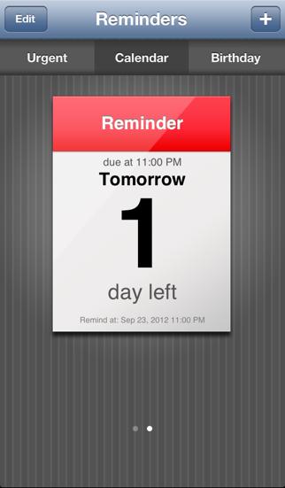 Reminder App screenshot