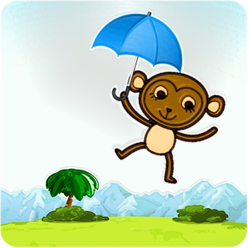 Monkey Float Jumper Flight Quest - Umbrella Floating Banana Tree World Free