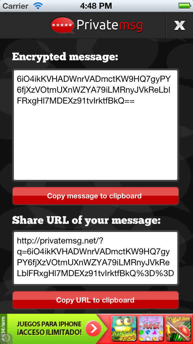 PrivateMSG - Encrypt & decrypt your private texts screenshot two