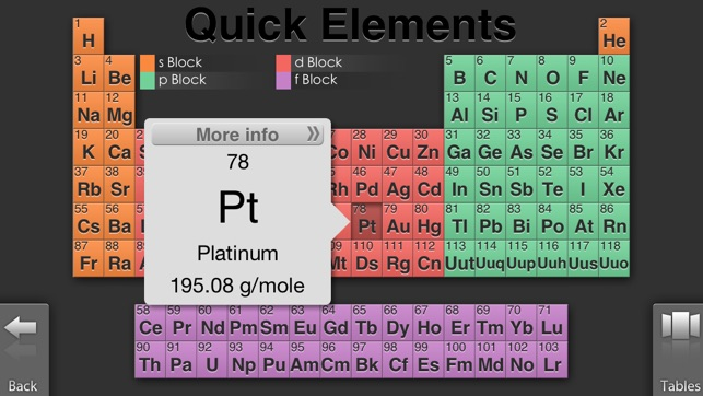 Quick periodic table of the elements on the app store iphone screenshots urtaz Choice Image