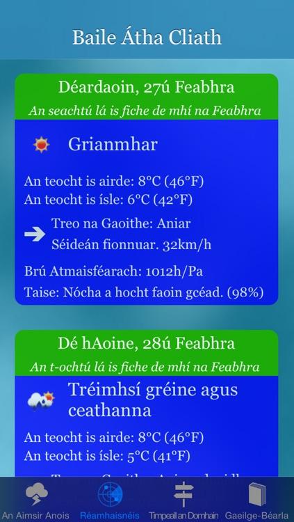 Aimsir - Irish Language Weather Forecast