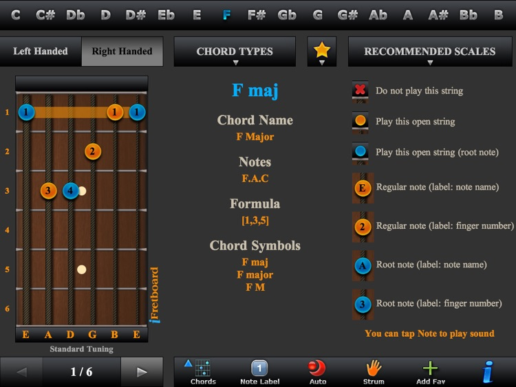 Guitar Chords, Triads & Quiz screenshot-0