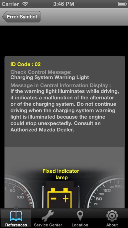 Mazda Warning Light