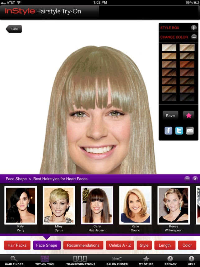 Instyle Hairstyle Try On On The App Store