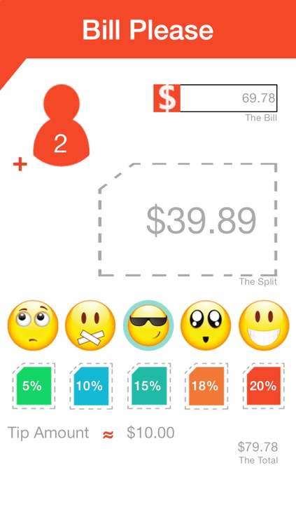 Bill Please - A simple way to calculate your tip and split your bill amongst friends for free!