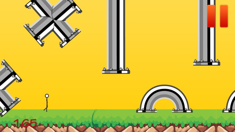 Flappy Stick-man Obstacle Course 2 - The Extreme Challenge screenshot-3