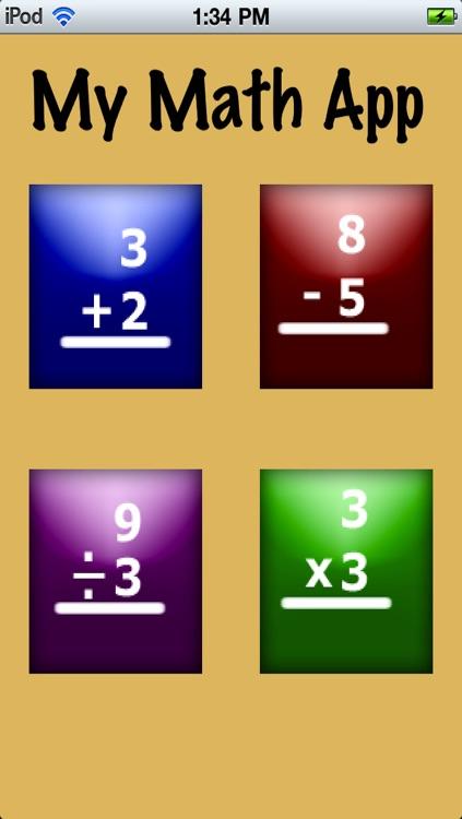 My Math Flash Cards App