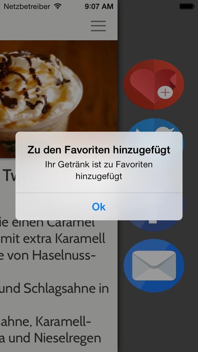 Geheime Menü für StarbucksScreenshot von 5