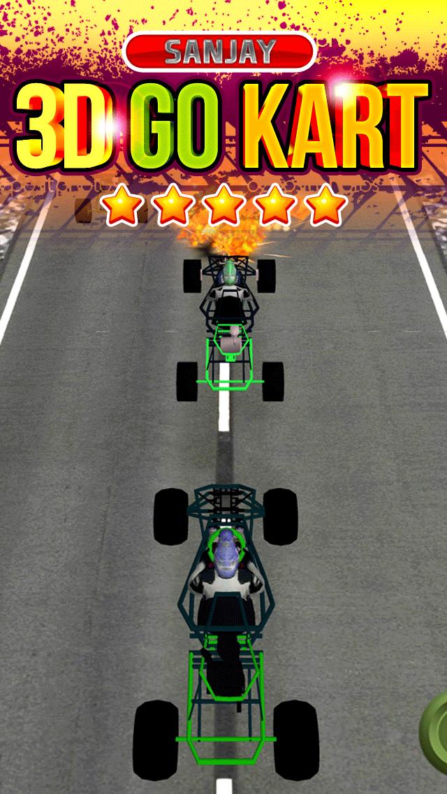 3Dゴーカート·レーシングの狂気によってストリートドライビング無料十代の若者たちのシミュレータゲームをエスケープのおすすめ画像1