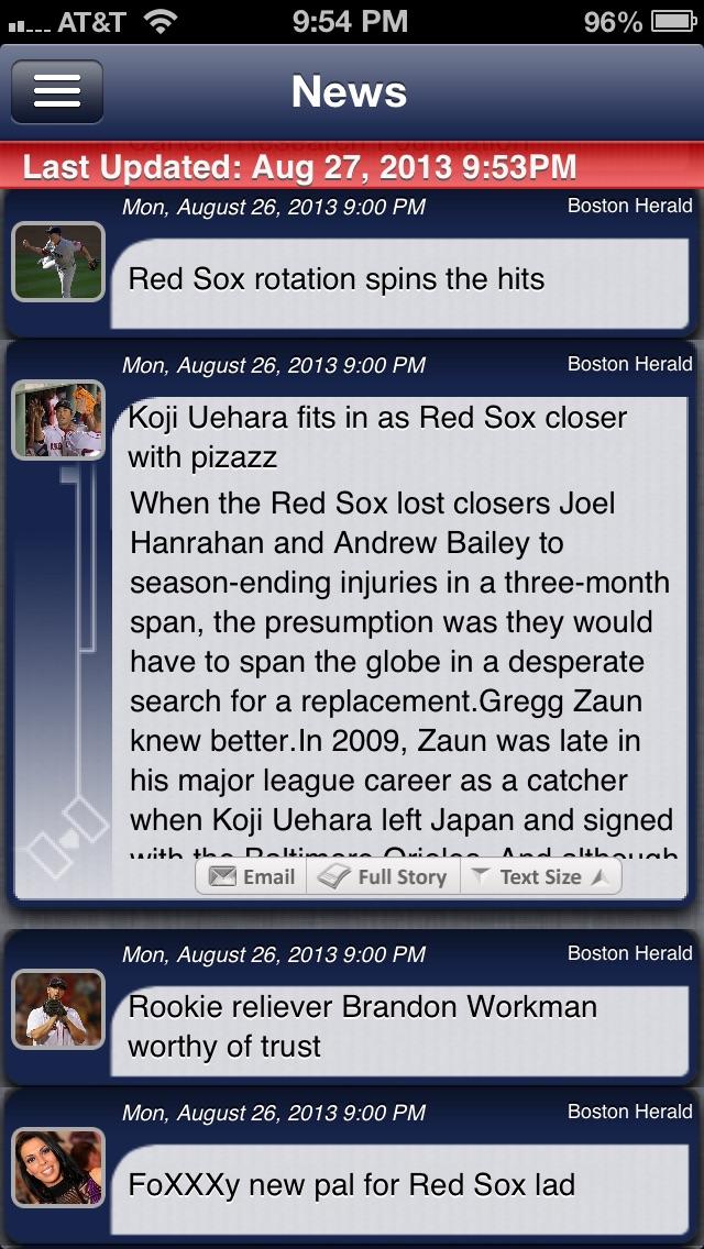 Boston Baseball Live review screenshots